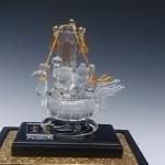 天然水晶彫刻 宝船