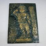 青銅 レリーフ ブロンズ像