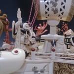 象牙彫刻(高砂)、象牙の宝船(七福神)などを買取致しました。