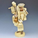 江戸川区松江にて象牙彫刻の人物置物を買取りさせて頂きました。