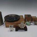 文京区千石のお客様より買取りさせて頂いた茶入れなどの煎茶器、香合、香炉など。