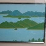 塩出英雄 瀬戸の海 日本画