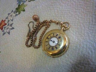 18金 懐中時計