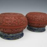中国骨董 堆朱 盒子