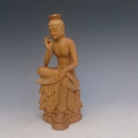 木彫 弥勒菩薩半跏像