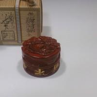 義経香合 鎌倉彫