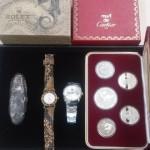練馬区の大泉学園店に安政丁銀、オリンピック記念硬貨、カルティエの腕時計などをお持込み頂きました。