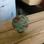 中国 大清道光年製 銀 珊瑚 象牙