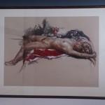 新宿区四谷のお客様より買い取りさせて頂いた佐藤照雄の裸婦画です。