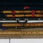 練馬区の大泉学園店に都山流の尺八、三味線、象牙の琴柱など各種、和楽器をお持込み頂きました。