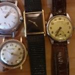 埼玉県川越市にてお売り頂きましたユールヤーゲンセンの金時計やカルティエの腕時計です。