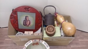 鎌倉彫 額 水鉢