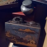 錫茶入 戦前油絵