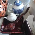 永福にて急須や茶入、鉄瓶などの煎茶道具と着物、花瓶、壷などをご売却頂きました。