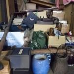 さいたま市緑区の解体現場にて掛軸や火鉢、竹籠など古い物を色々と買い取りさせて頂きました。