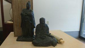 鹿寿老 銅像