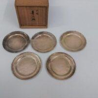 純銀製 青海皿